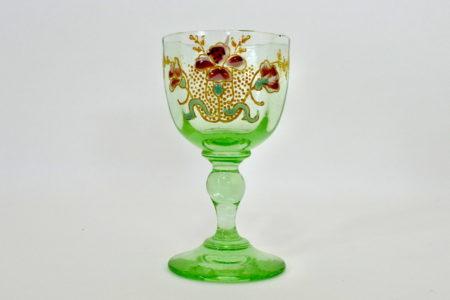 Bicchierino Legras in vetro soffiato e smalti