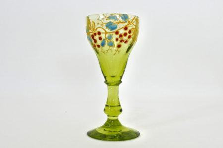 Bicchierino Legras in vetro soffiato e smalti - Altezza 8,5 cm