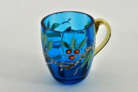 Bicchierino in vetro soffiato e smalti - Altezza 4,4 cm