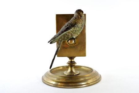 Bronzo di Vienna – Portafiammiferi con pappagallo