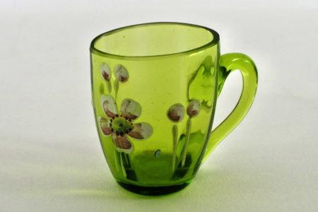 Bicchierino in vetro soffiato e smalti - Altezza 4,2 cm