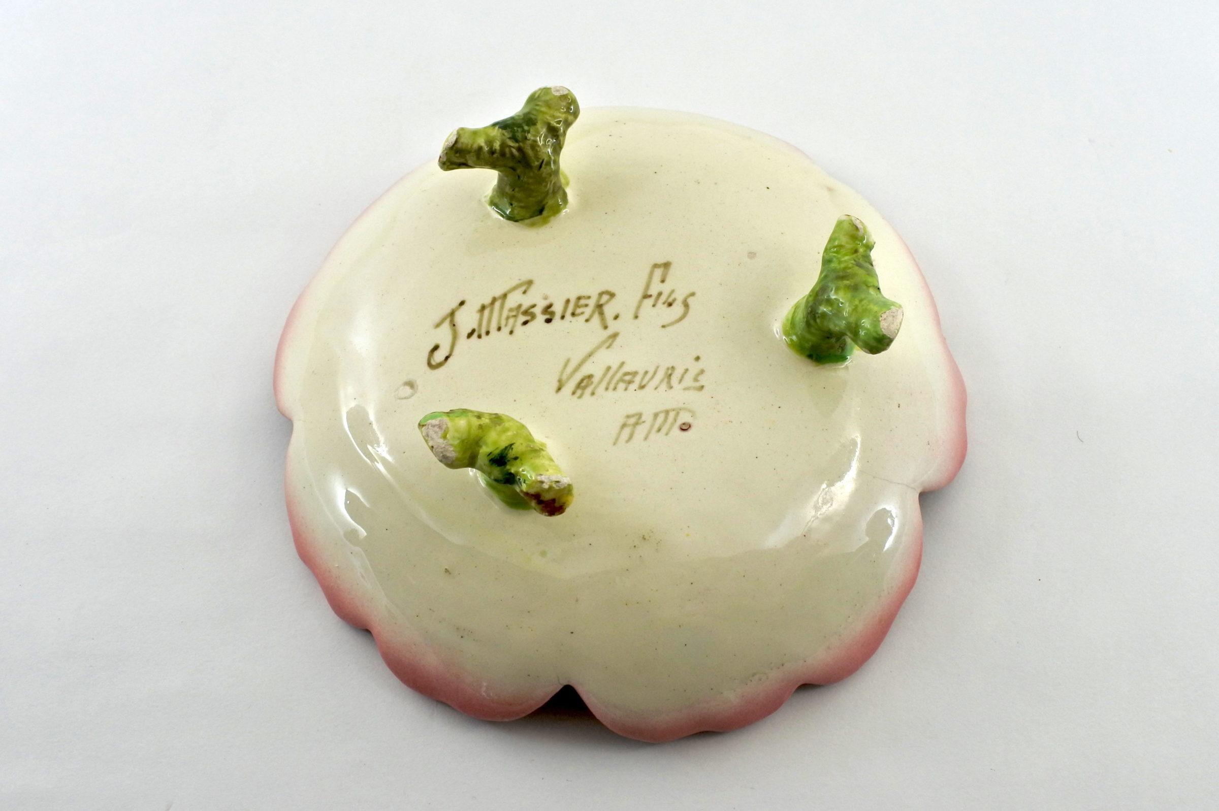 Alzatina Jérôme Massier Fils in ceramica barbotine a forma di anemone - 2