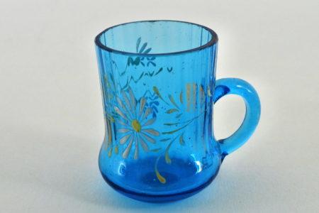 Bicchierino in vetro soffiato e smalti - Altezza 4,5 cm