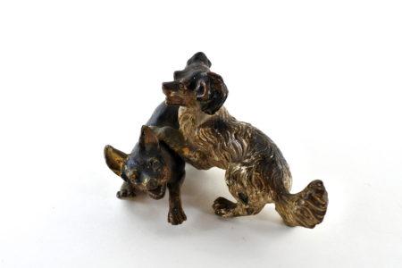 Bronzo di Vienna - Coppia di cani