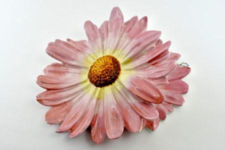 Portafiori da muro Massier in ceramica barbotine a forma di fiore