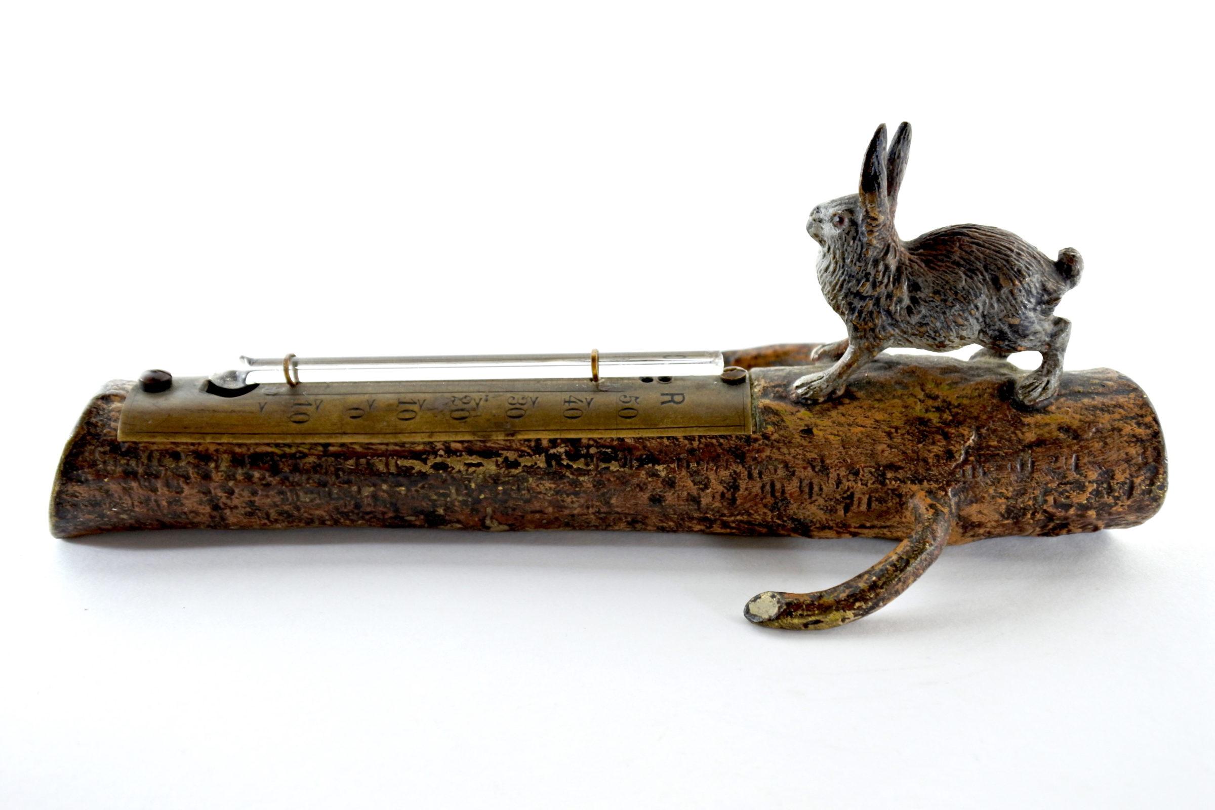 Bronzo di Vienna - Lepre con termometro - 3