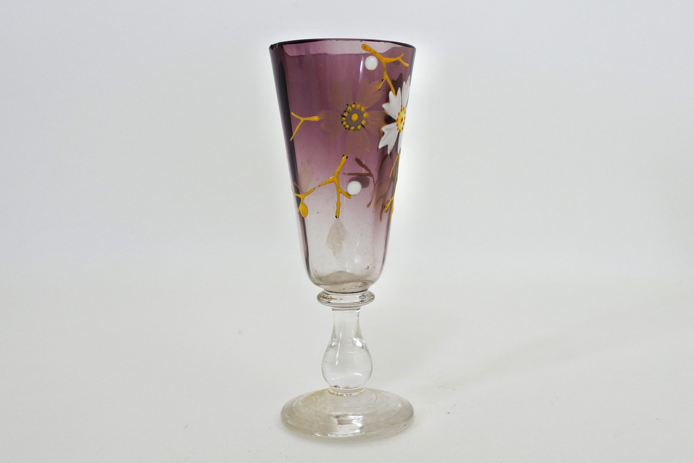 Bicchierino in vetro soffiato e smalti - Altezza 9,5 cm - 2