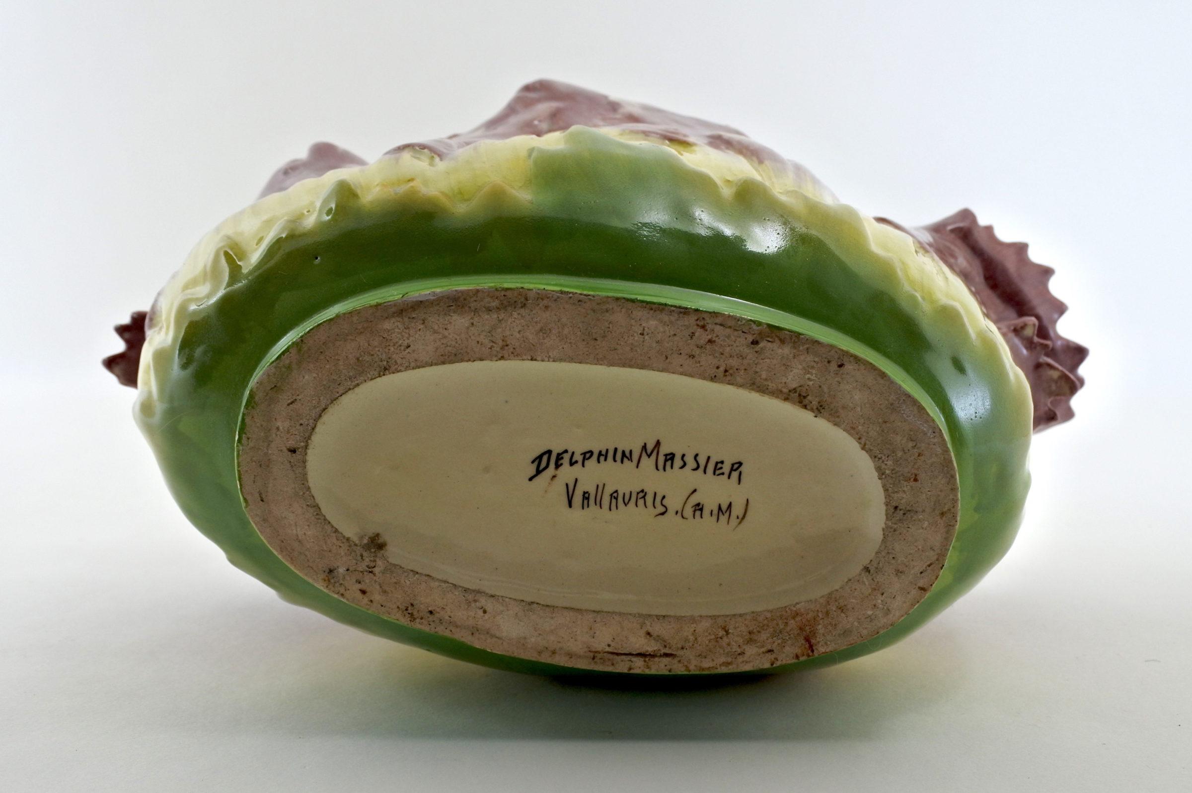 Jardinière Massier in ceramica barbotine con fiori - 4