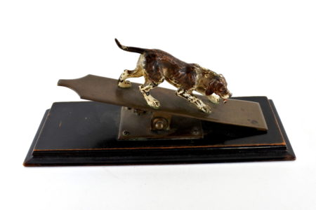 Bronzo di Vienna - Pinza fogli con cane
