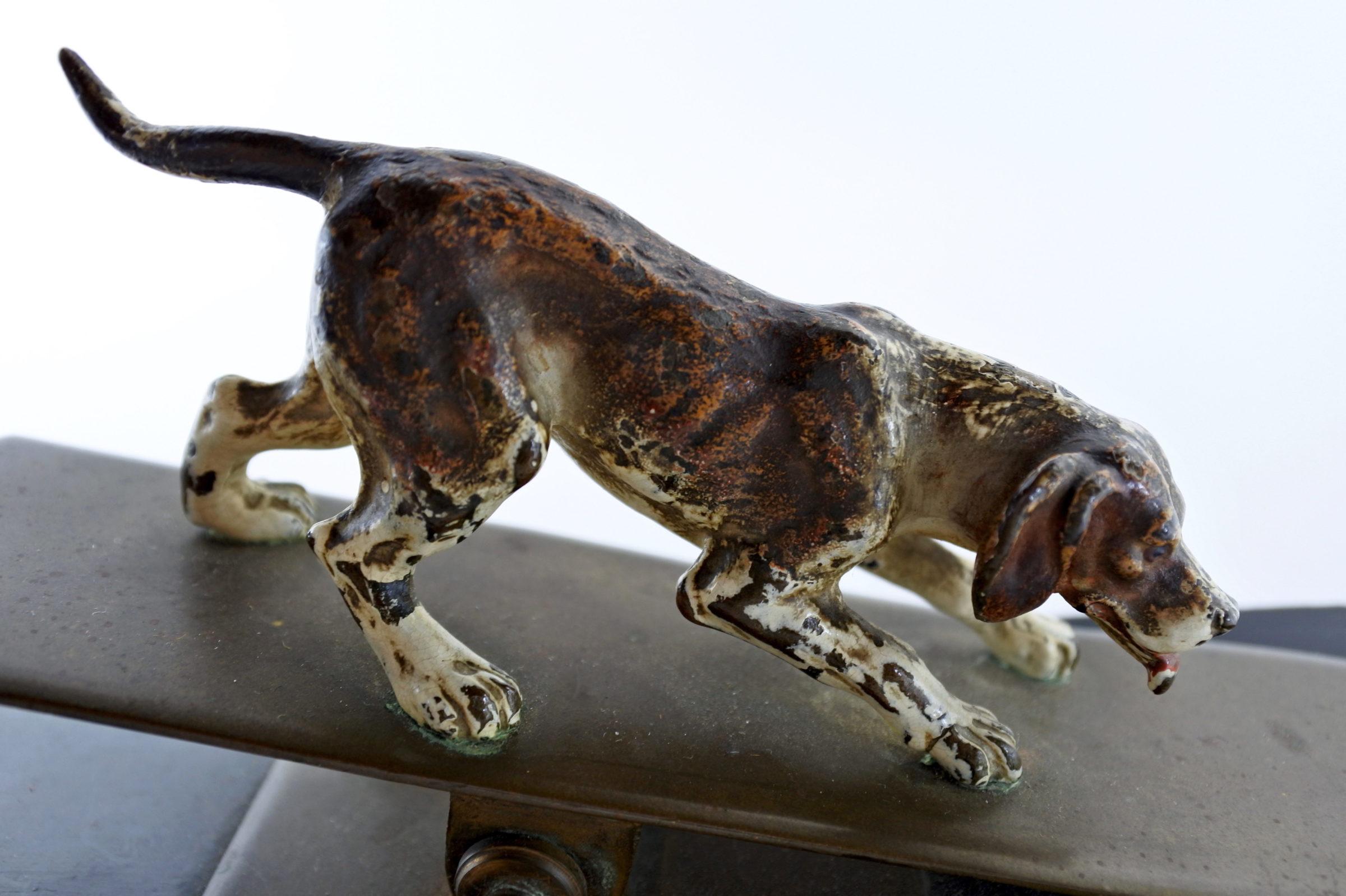 Bronzo di Vienna - Pinza fogli con cane - 4