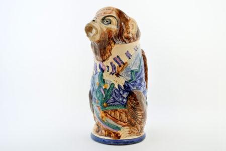 Brocca in ceramica barbotine a forma di scimmia - Nimy les Mons n°3
