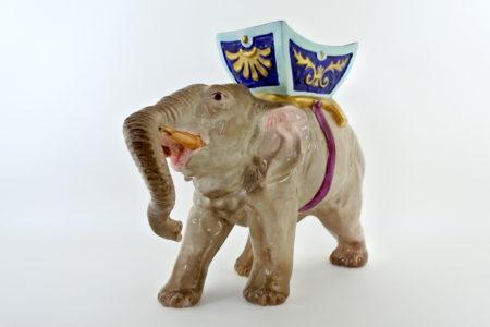 Elefante Massier in ceramica barbotine