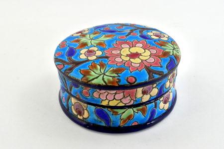 Scatolina in ceramica di Longwy con smalti