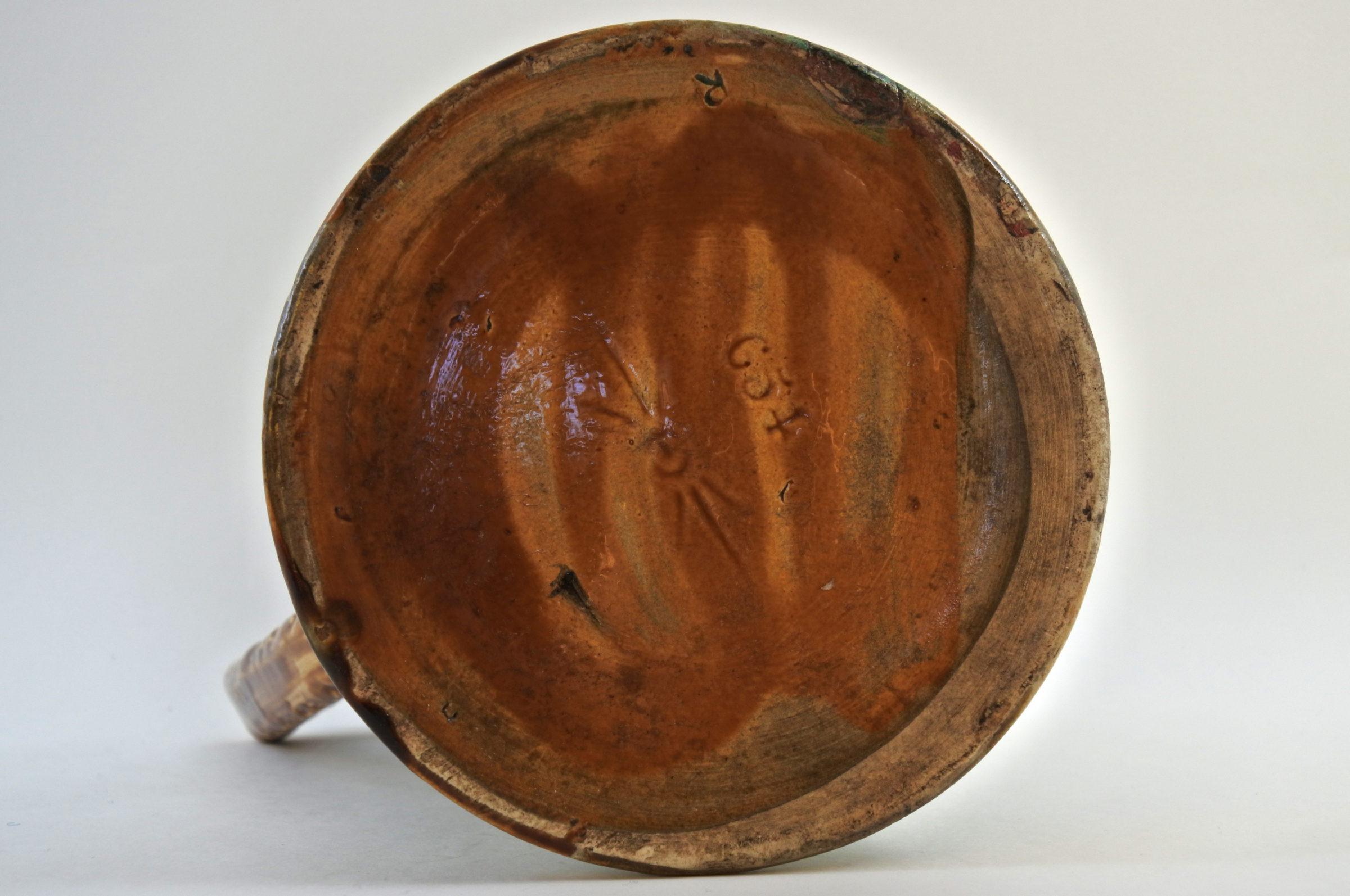Brocca in ceramica barbotine con cardi - Chardons - 5