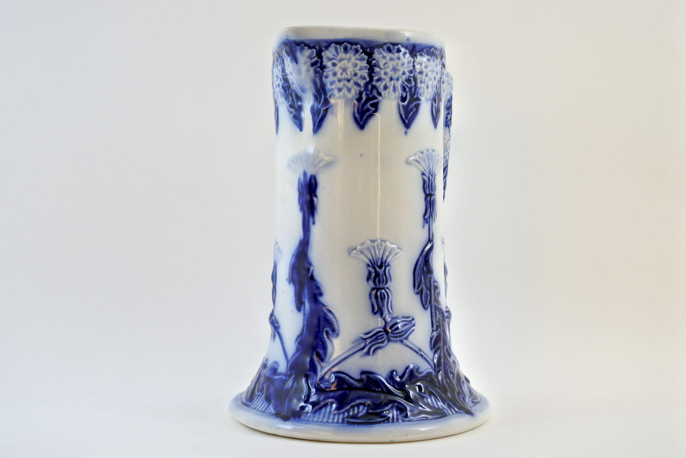 Brocca in ceramica barbotine con cardi monocromatici - Chardons - 4
