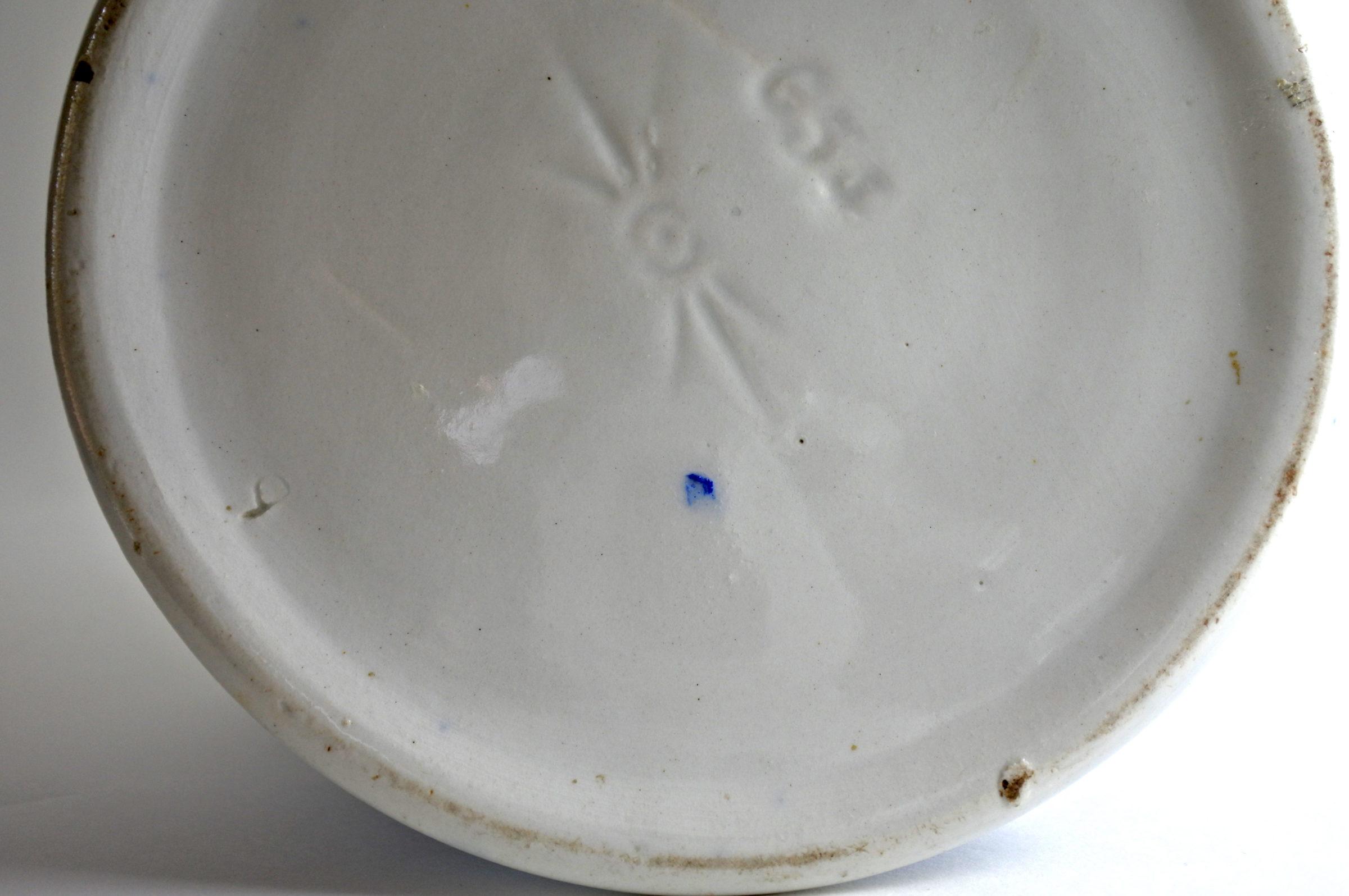Brocca in ceramica barbotine con cardi monocromatici - Chardons - 5