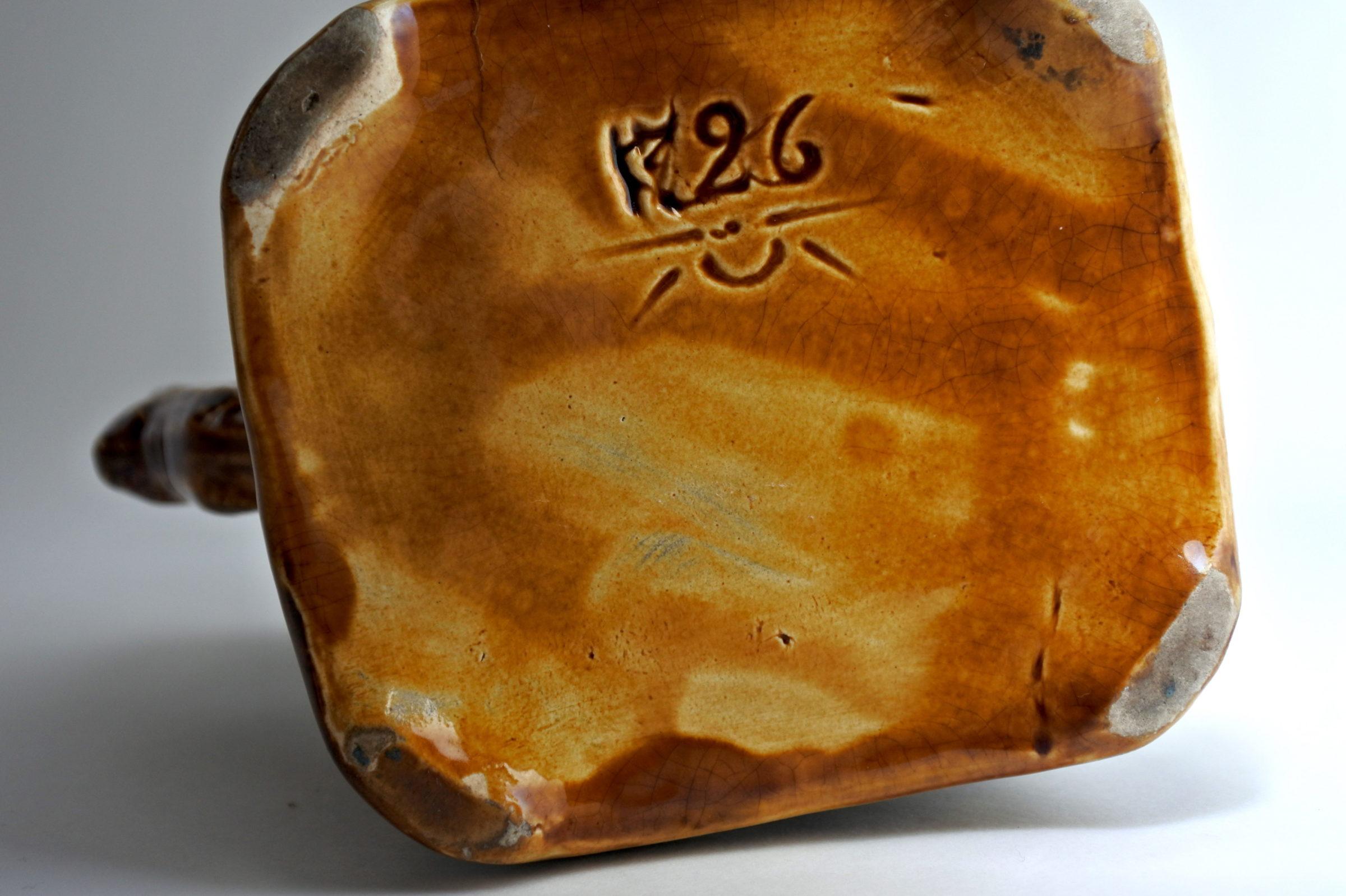 Brocca in ceramica barbotine con ciclamini - Carré cyclamen - 5