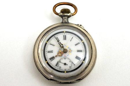 Orologio da tasca in argento con marchio Diogene