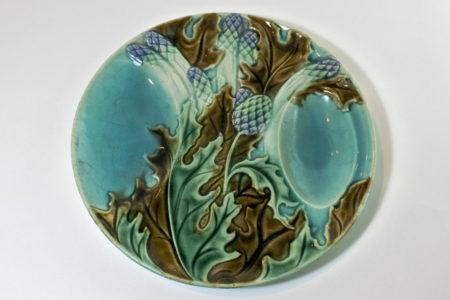 Piatto in ceramica barbotine per asparagi e carciofi - Salins les Bains