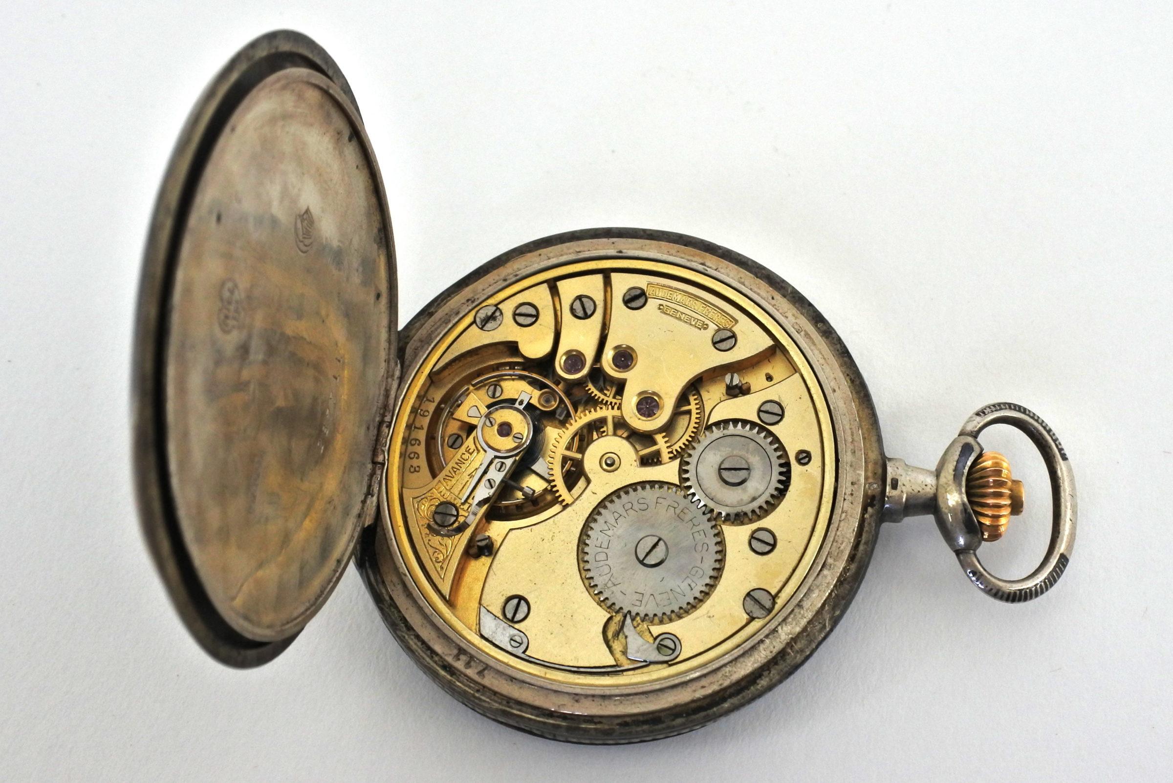 Orologio da tasca in argento e niello – Audemars Piguet Genève - 4