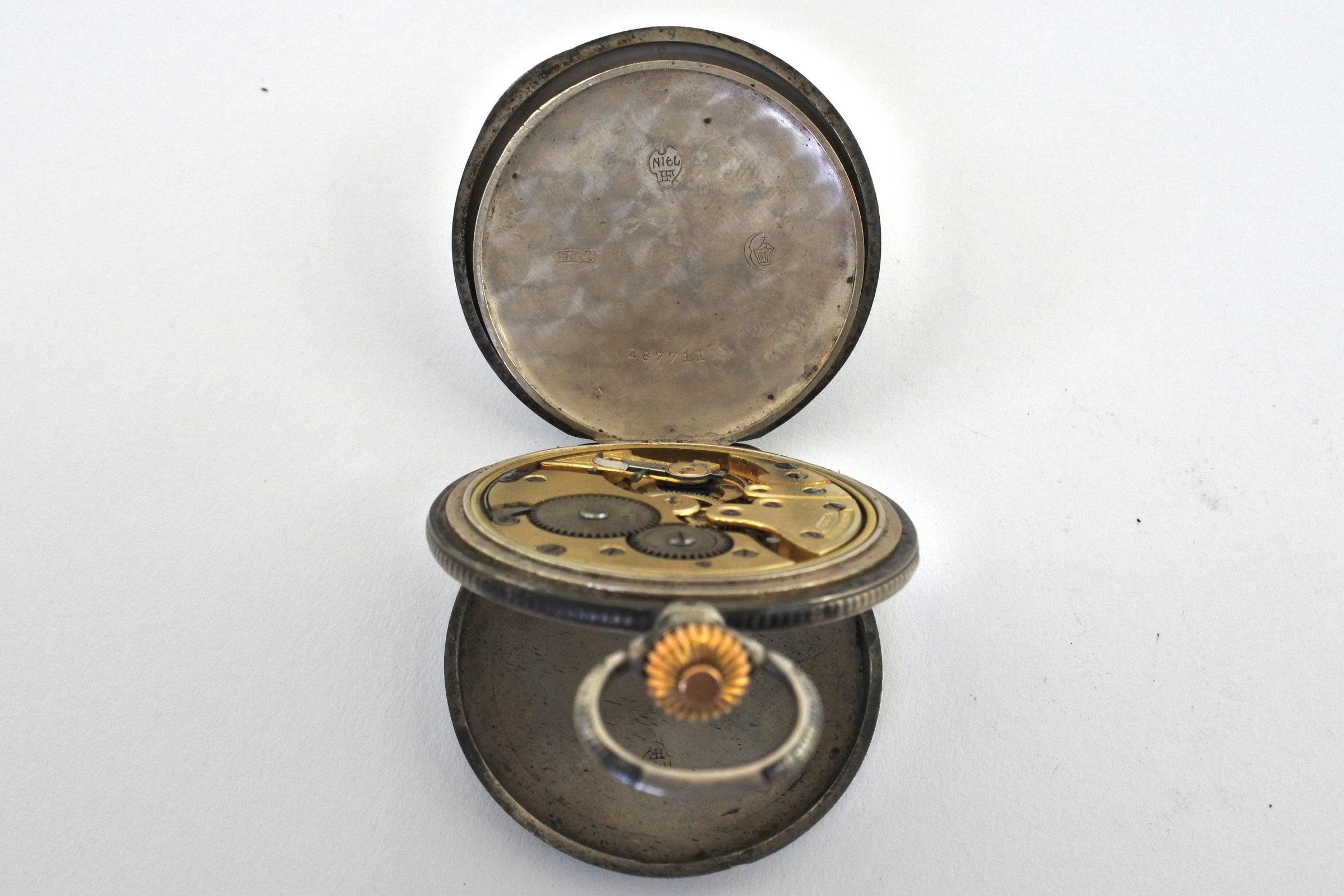 Orologio da tasca in argento e niello – Audemars Piguet Genève - 5