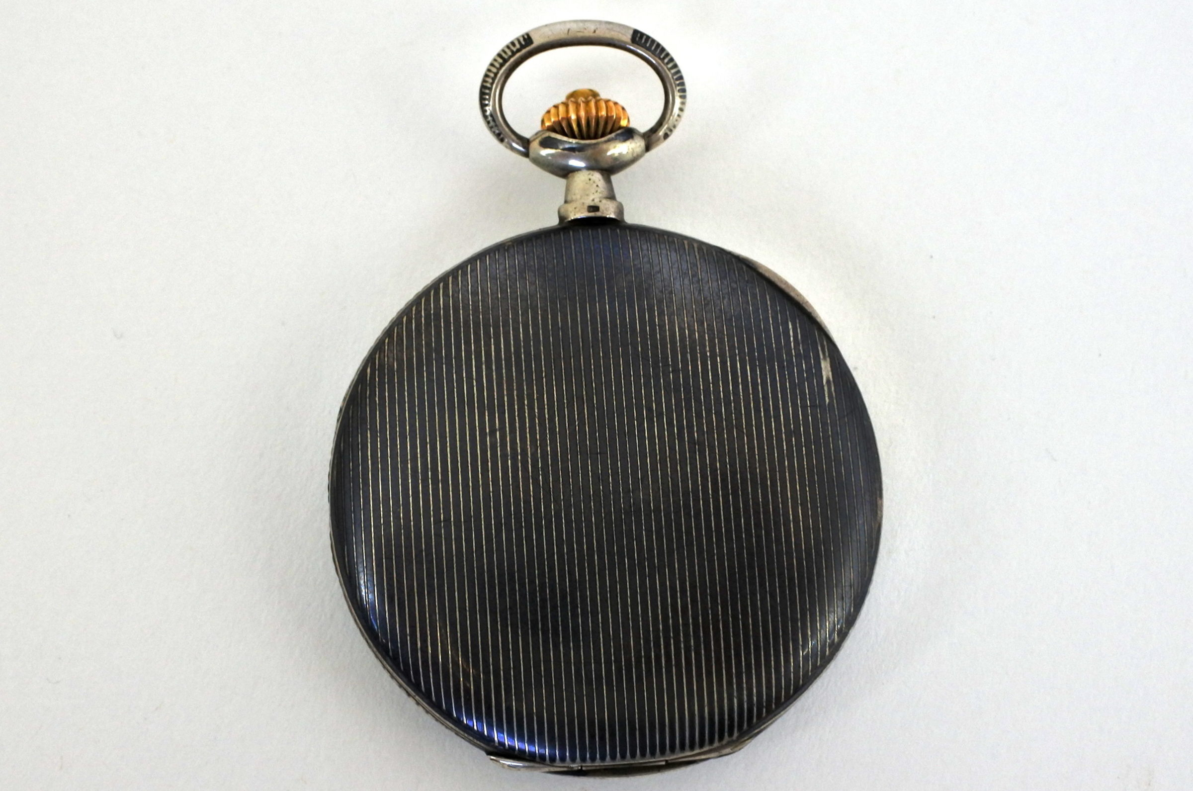 Orologio da tasca in argento e niello – Audemars Piguet Genève - 7
