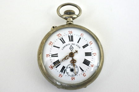 Orologio da tasca in argento – Chemin de fer