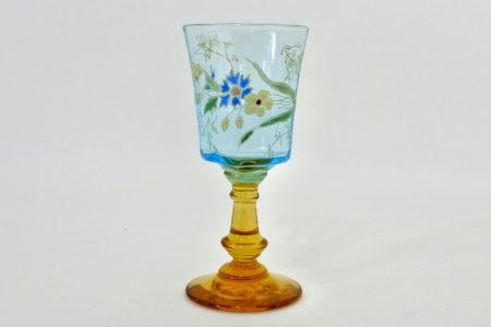 Bicchierino in vetro soffiato e smalti - Altezza 8,6 cm