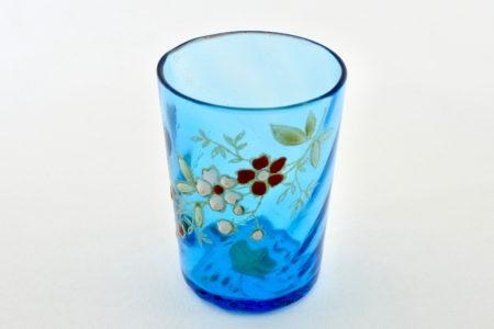 Bicchierino in vetro soffiato e smalti - Altezza 5 cm