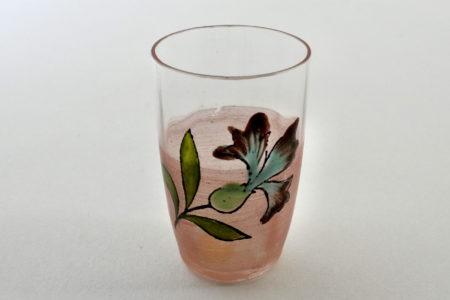Bicchierino in vetro soffiato e smalti - Altezza 5,3 cm