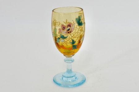 Bicchierino Legras bicolore in vetro soffiato e smalti