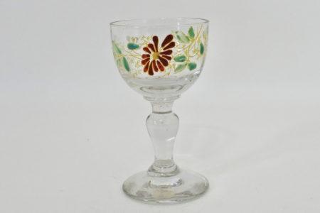 Bicchierino Legras in vetro soffiato e smalti - Altezza 8 cm