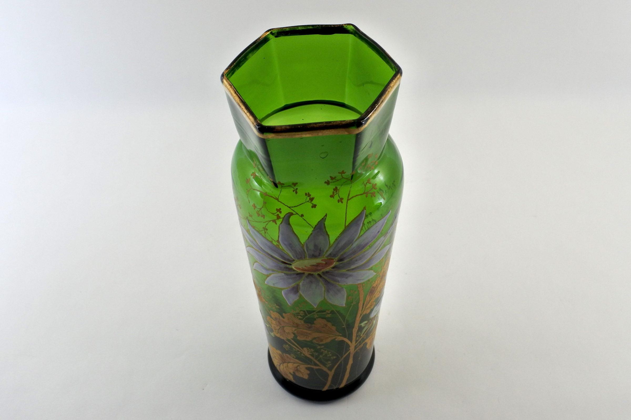 Vaso Legras in vetro soffiato e smalti - 5