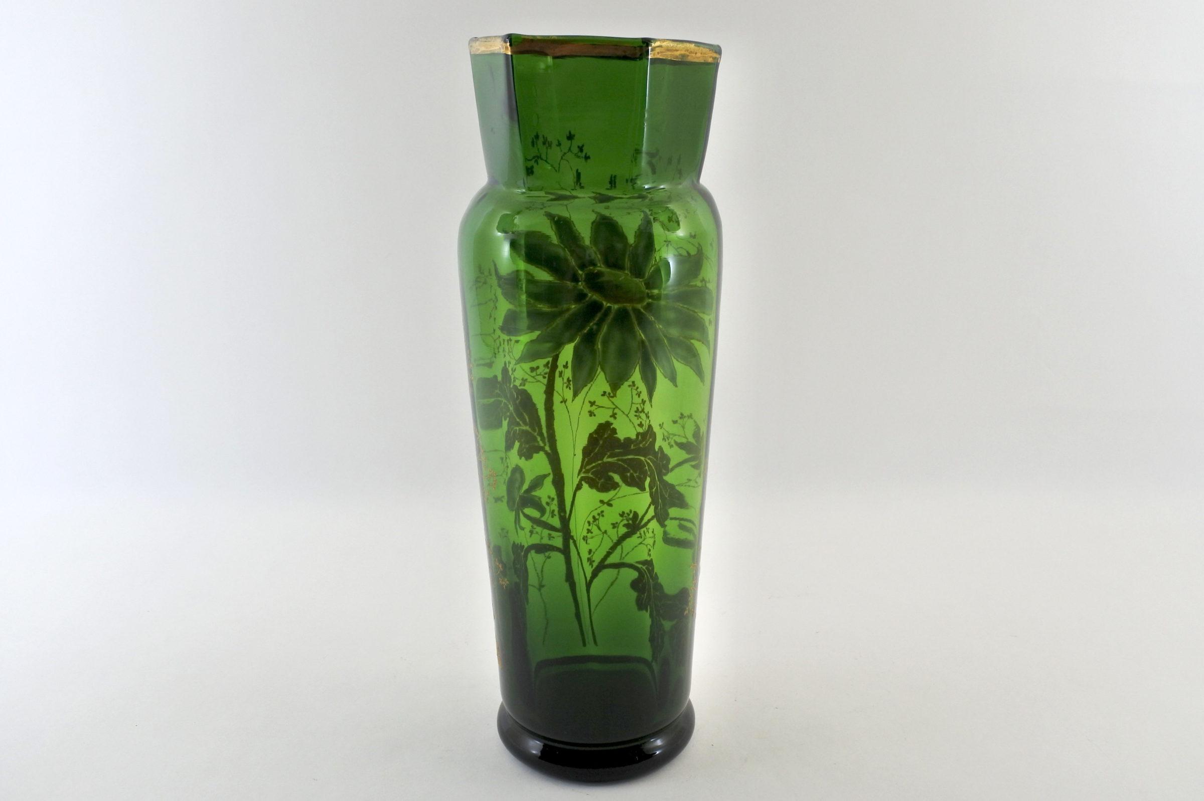 Vaso Legras in vetro soffiato e smalti - 3