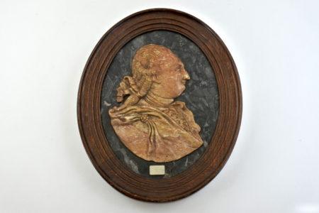 Scultura in marmo rappresentante Luigi XVI