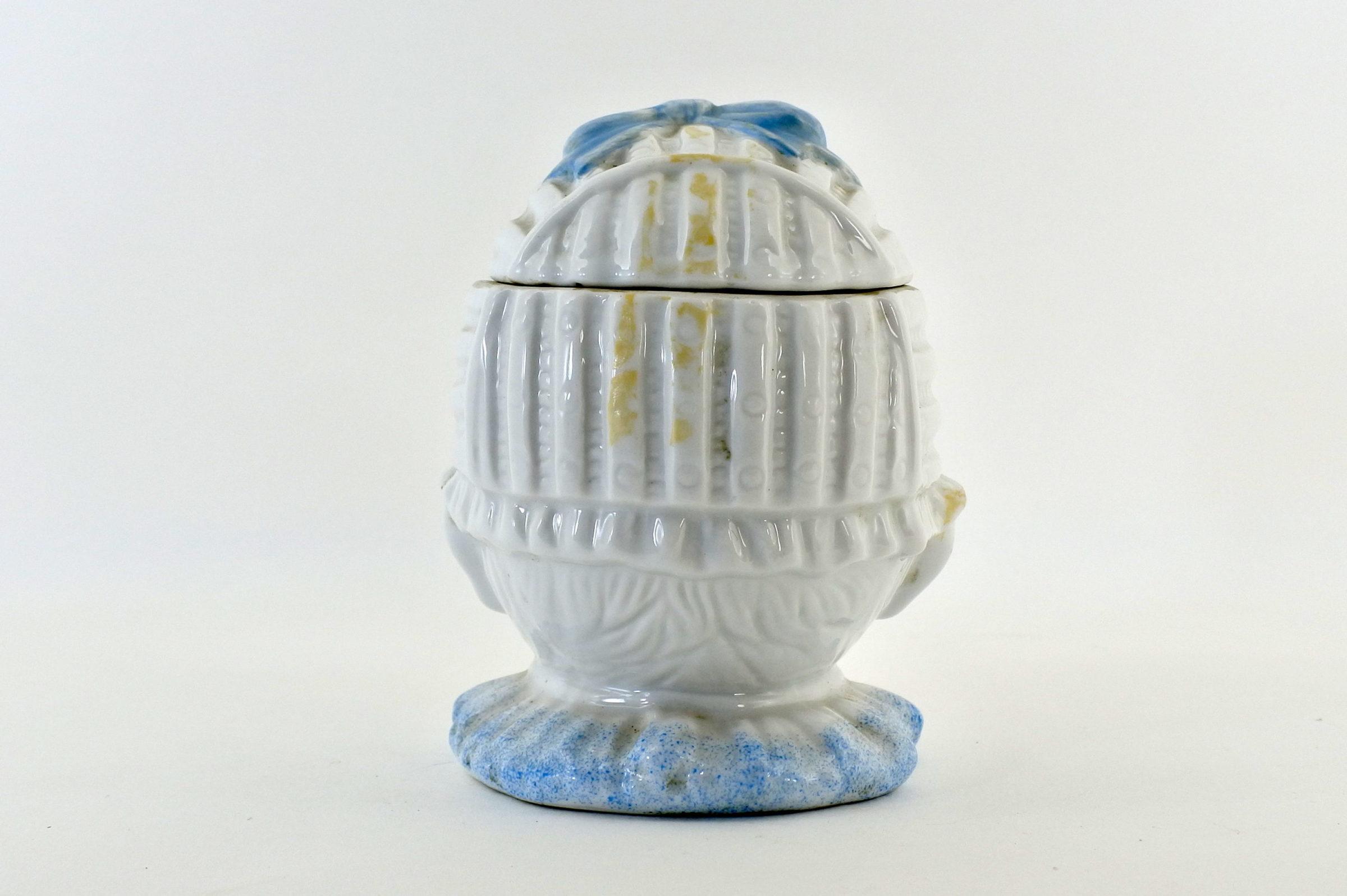 Portatabacco in ceramica rappresentante neonato con ciuccio - 3