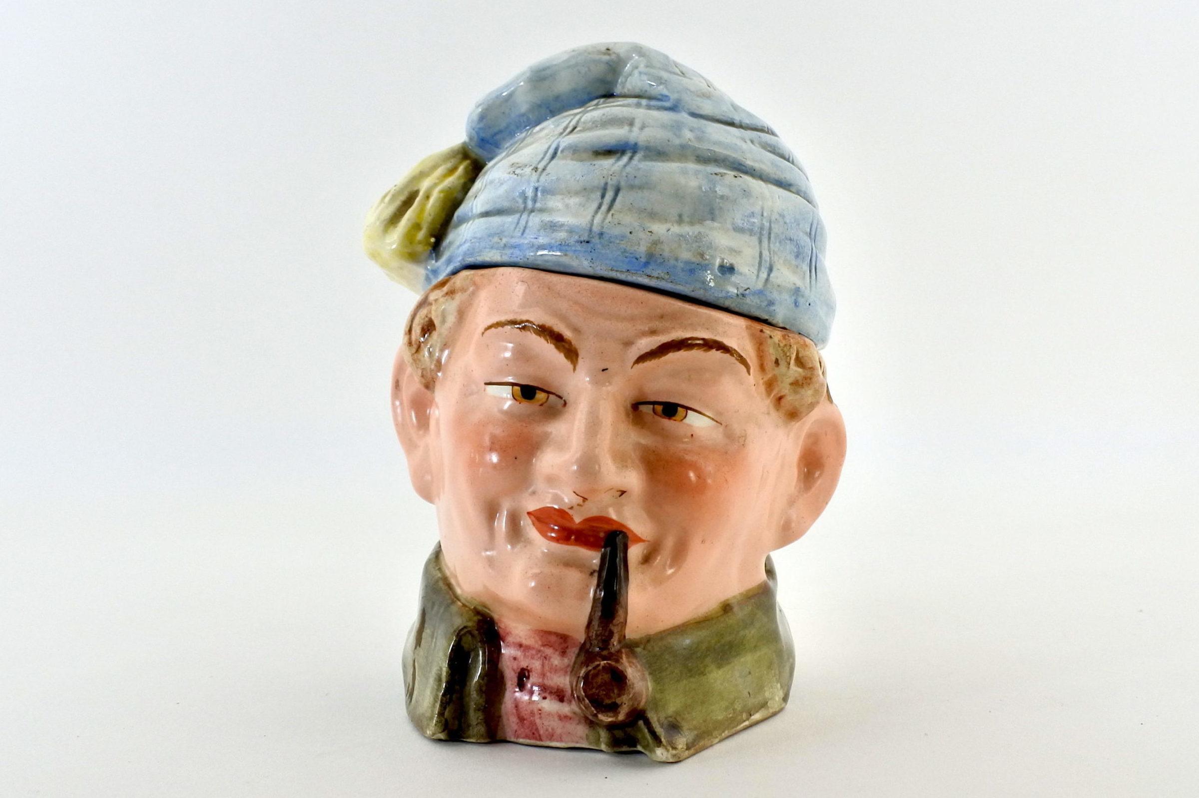 Portatabacco in ceramica - Altezza 14,5 cm