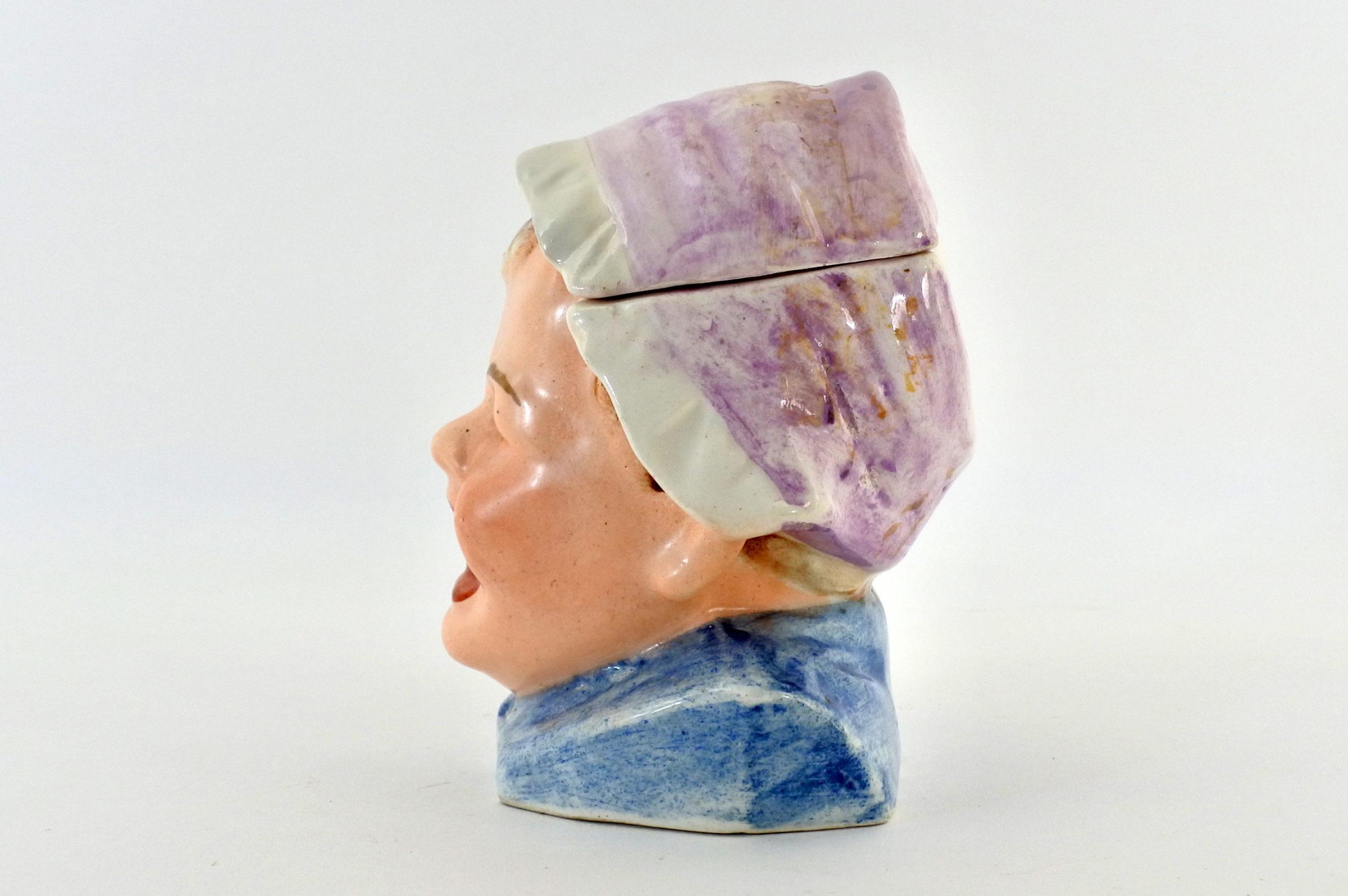 Portatabacco in ceramica - Altezza 12 cm - 2