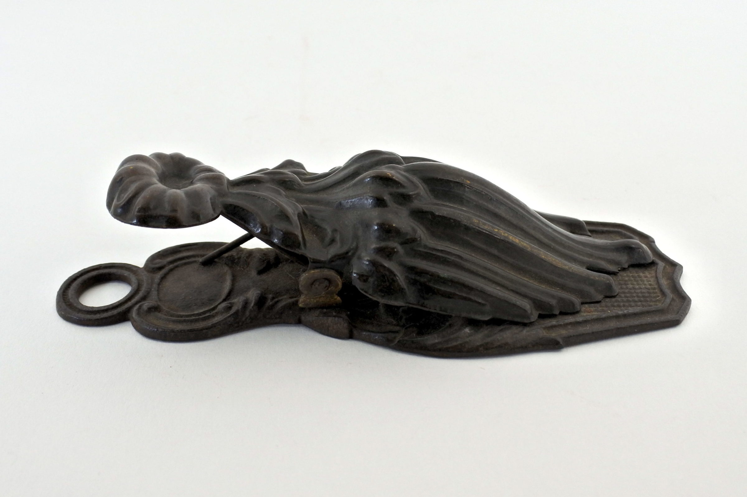 Pinza fogli in ottone e ferro a forma di manina - 3