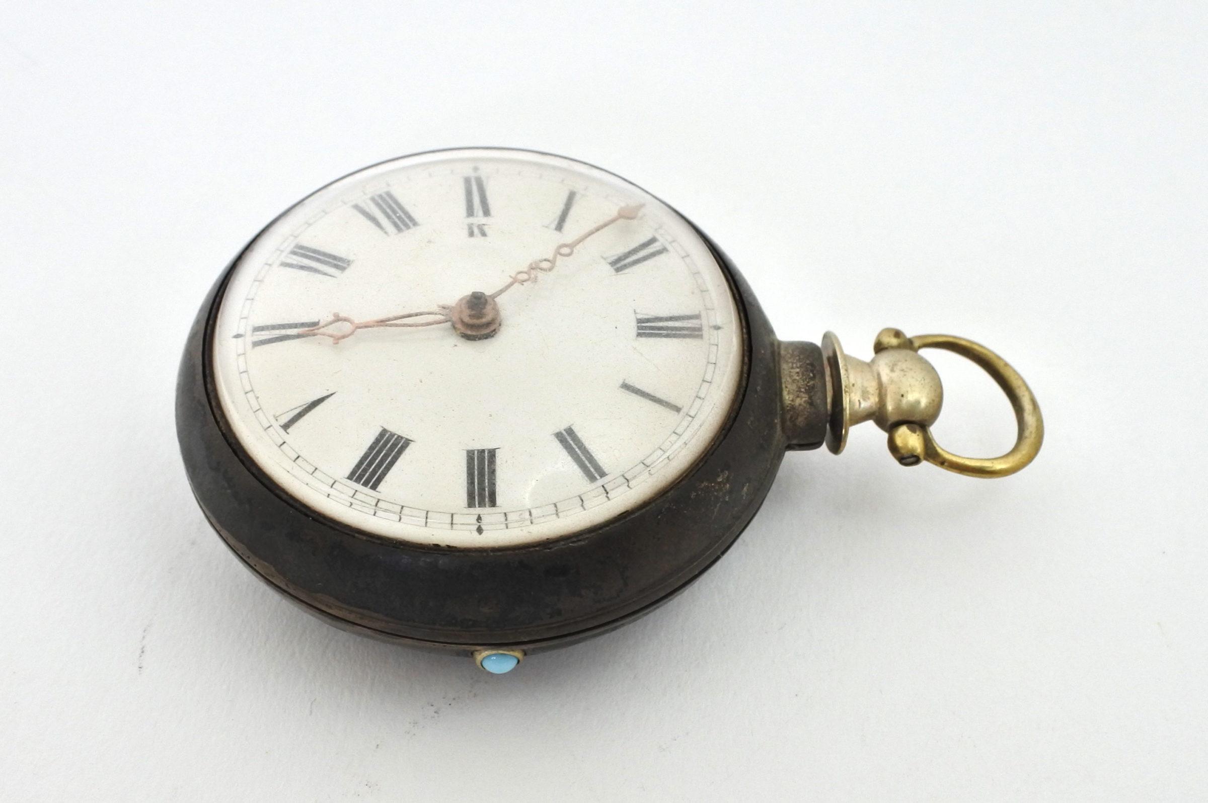 Orologio da tasca – ribaltina corredata di copri cassa in nickel - 2