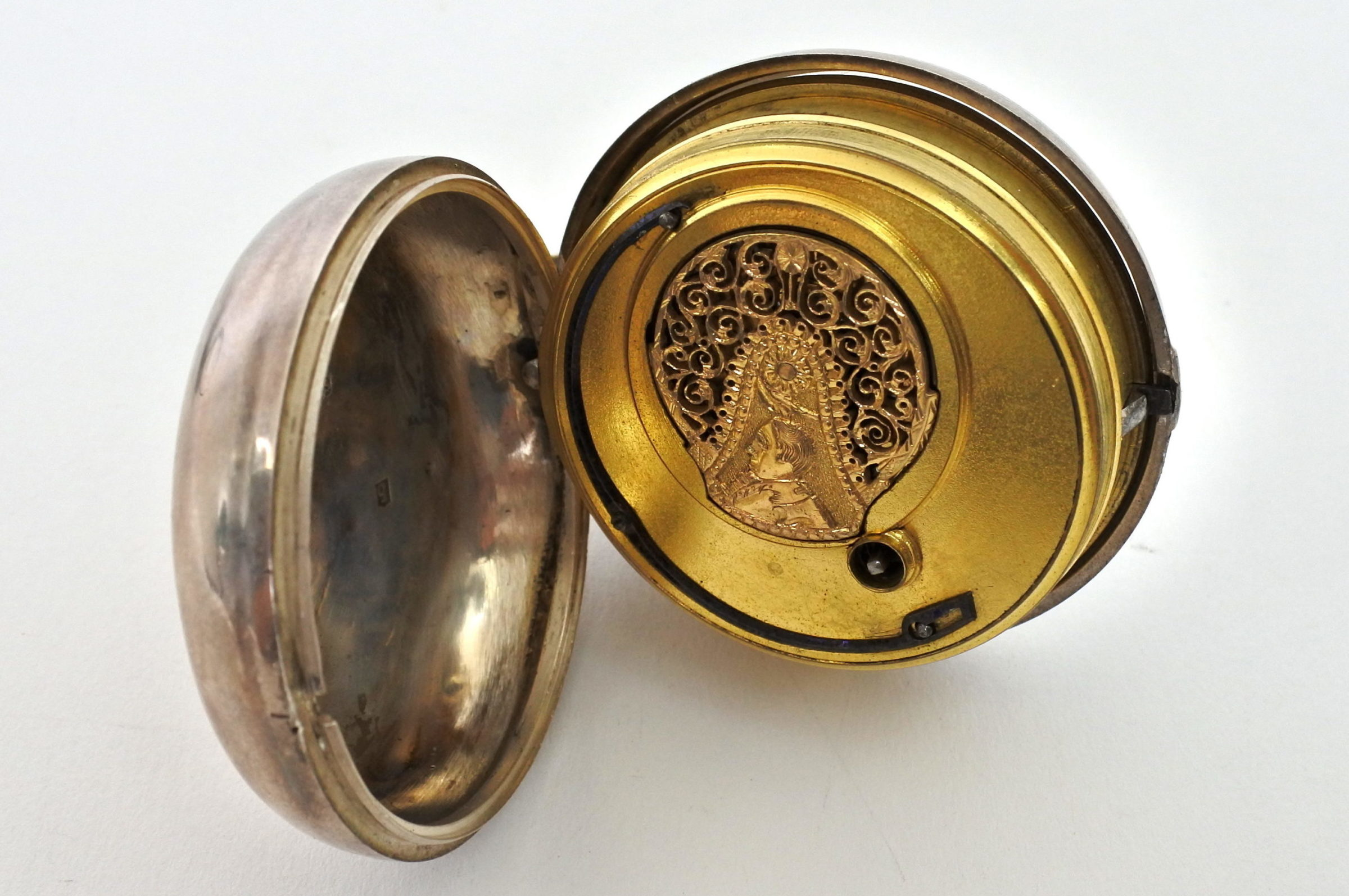 Orologio da tasca – ribaltina corredata di copri cassa in nickel - 5