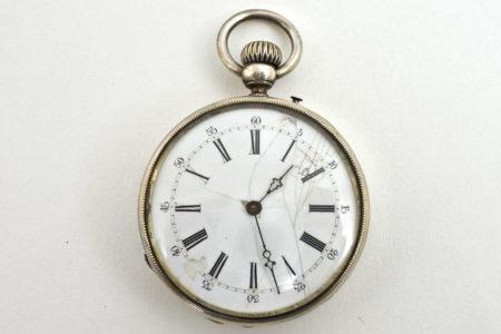 Orologio da tasca in argento – Diametro cassa 46 mm