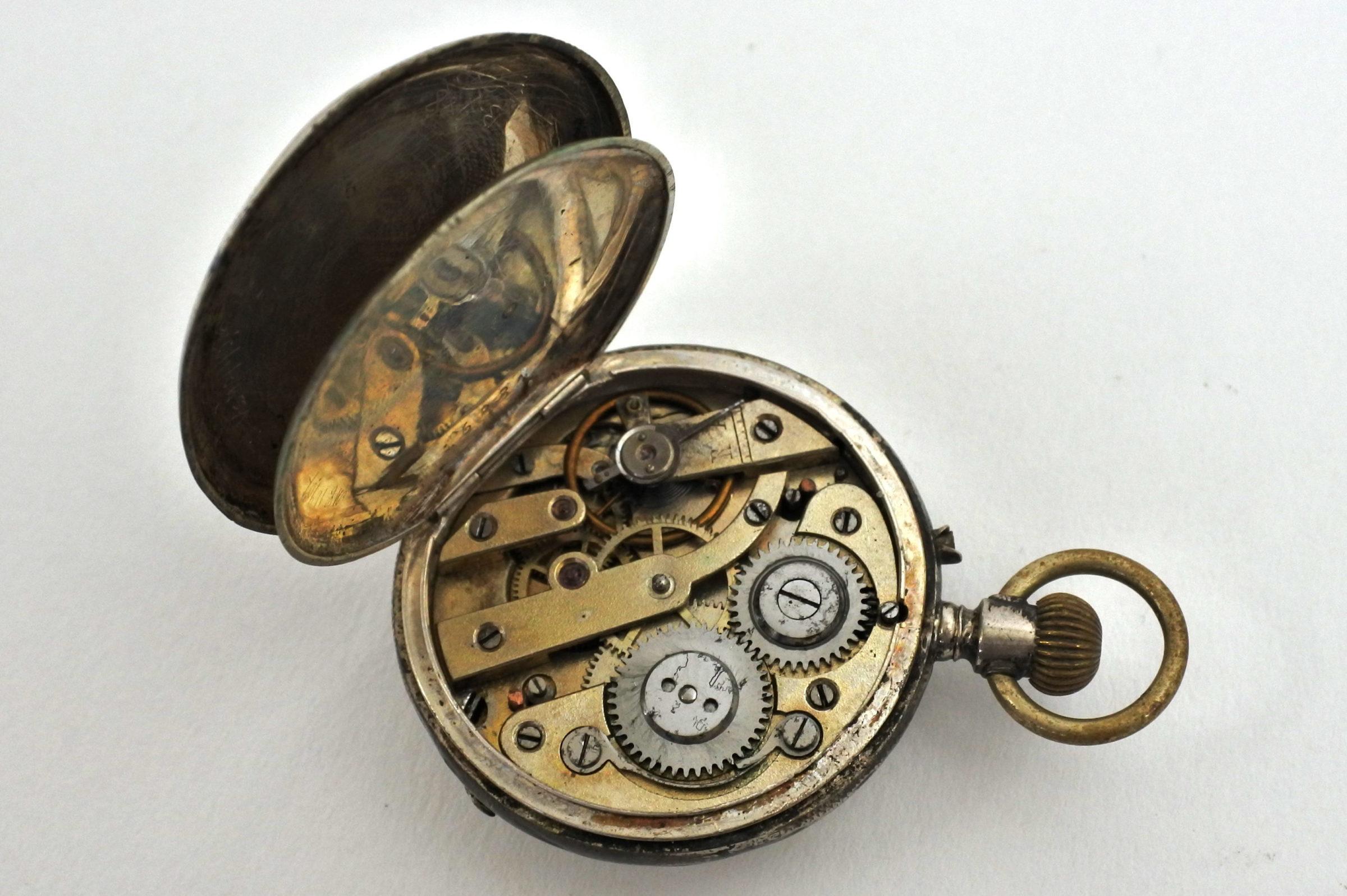 Orologio da tasca Tissot Genève – monachina in argento - 3