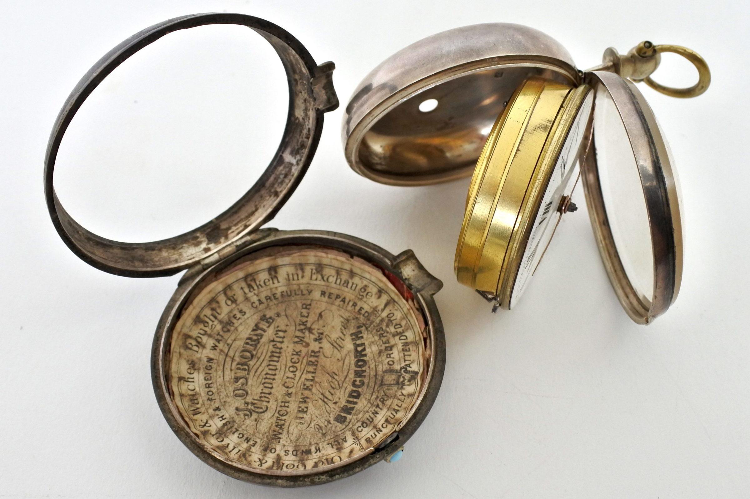 Orologio da tasca – ribaltina corredata di copri cassa in nickel - 6