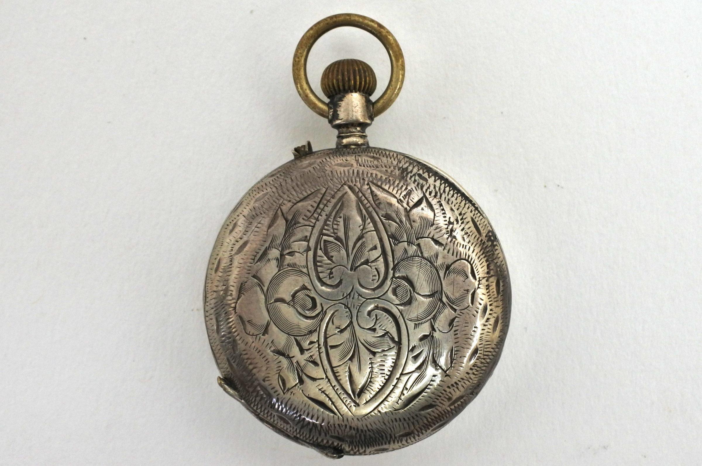 Orologio da tasca Tissot Genève – monachina in argento - 4