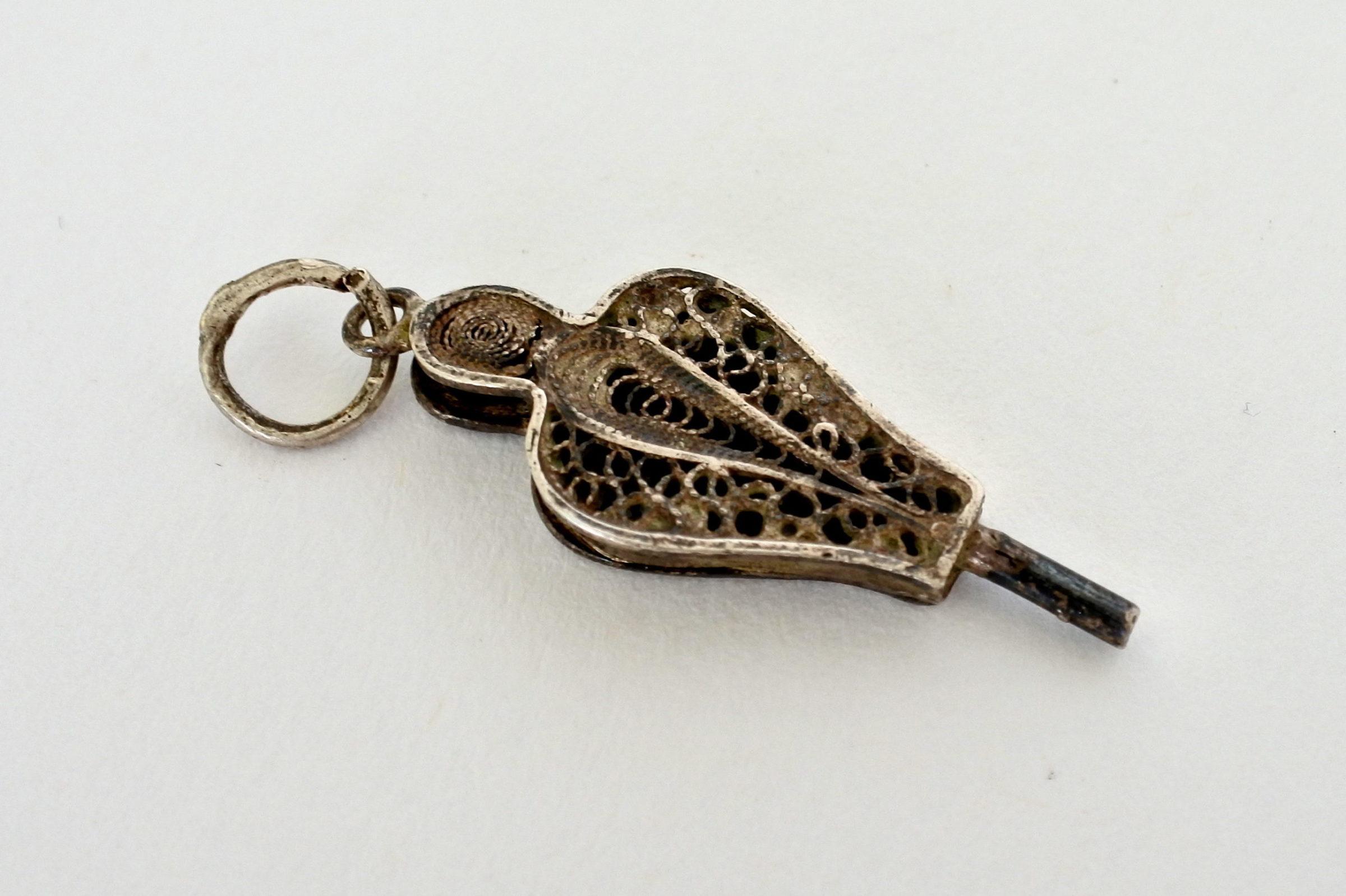 Chiavetta in filigrana d'argento per orologio da tasca - 2