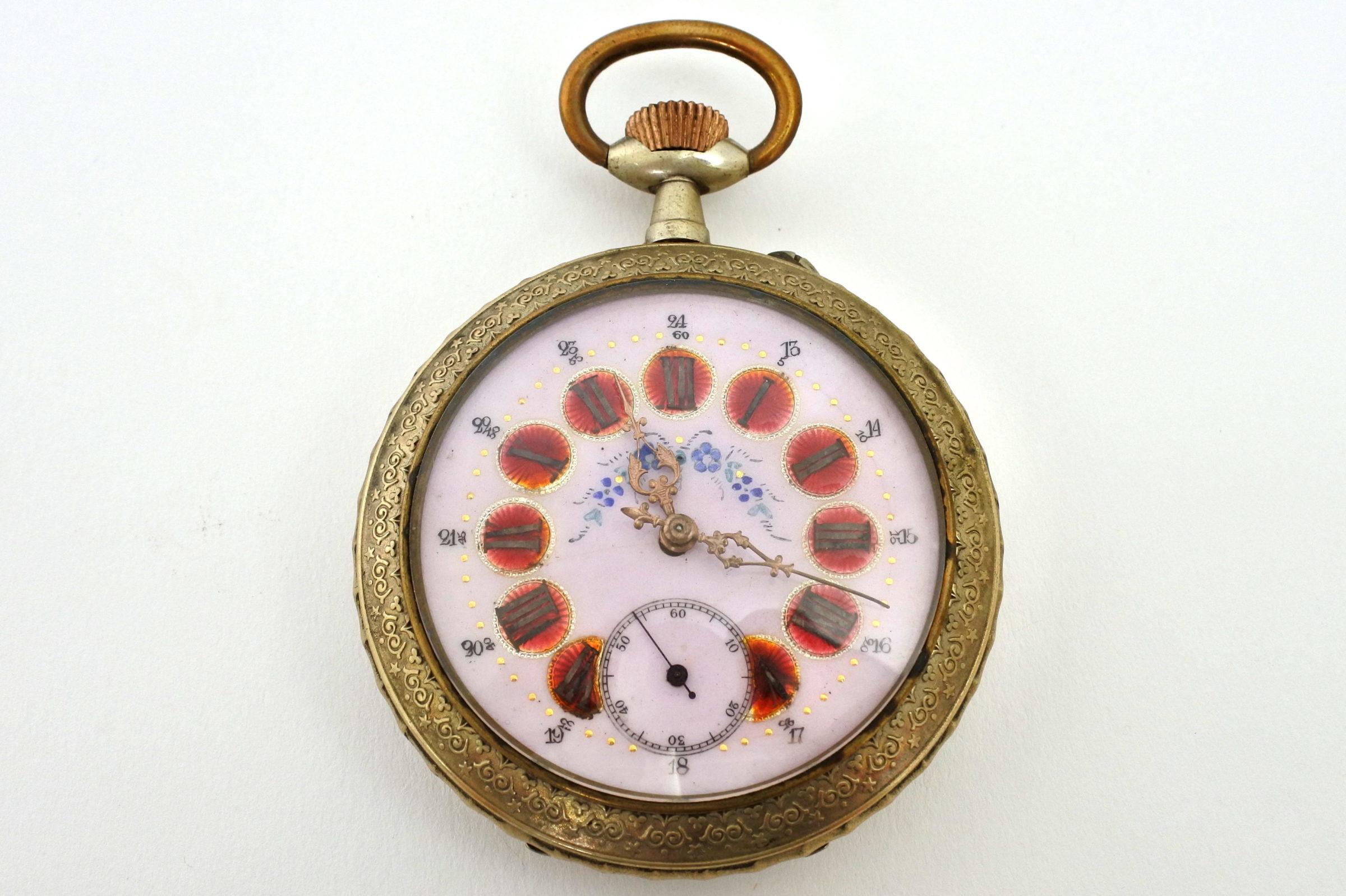 Bellissimo orologio da tasca in argento