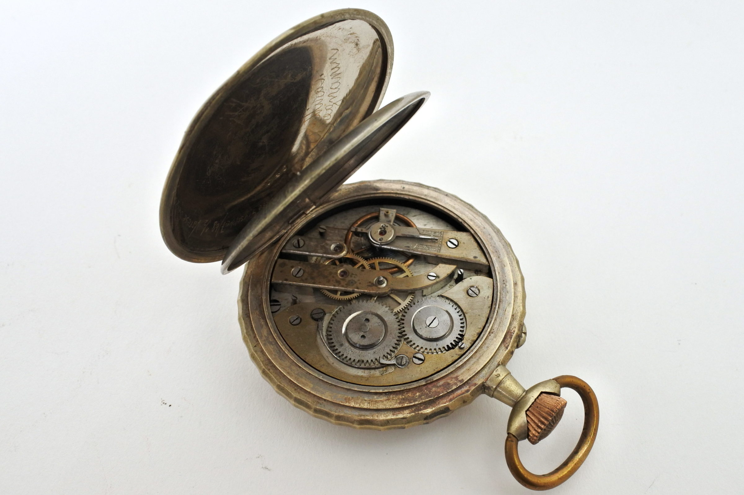 Bellissimo orologio da tasca in argento - 3