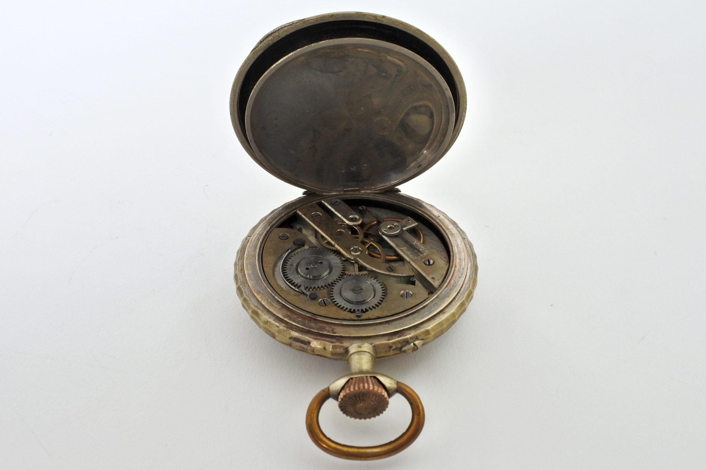 Bellissimo orologio da tasca in argento - 4