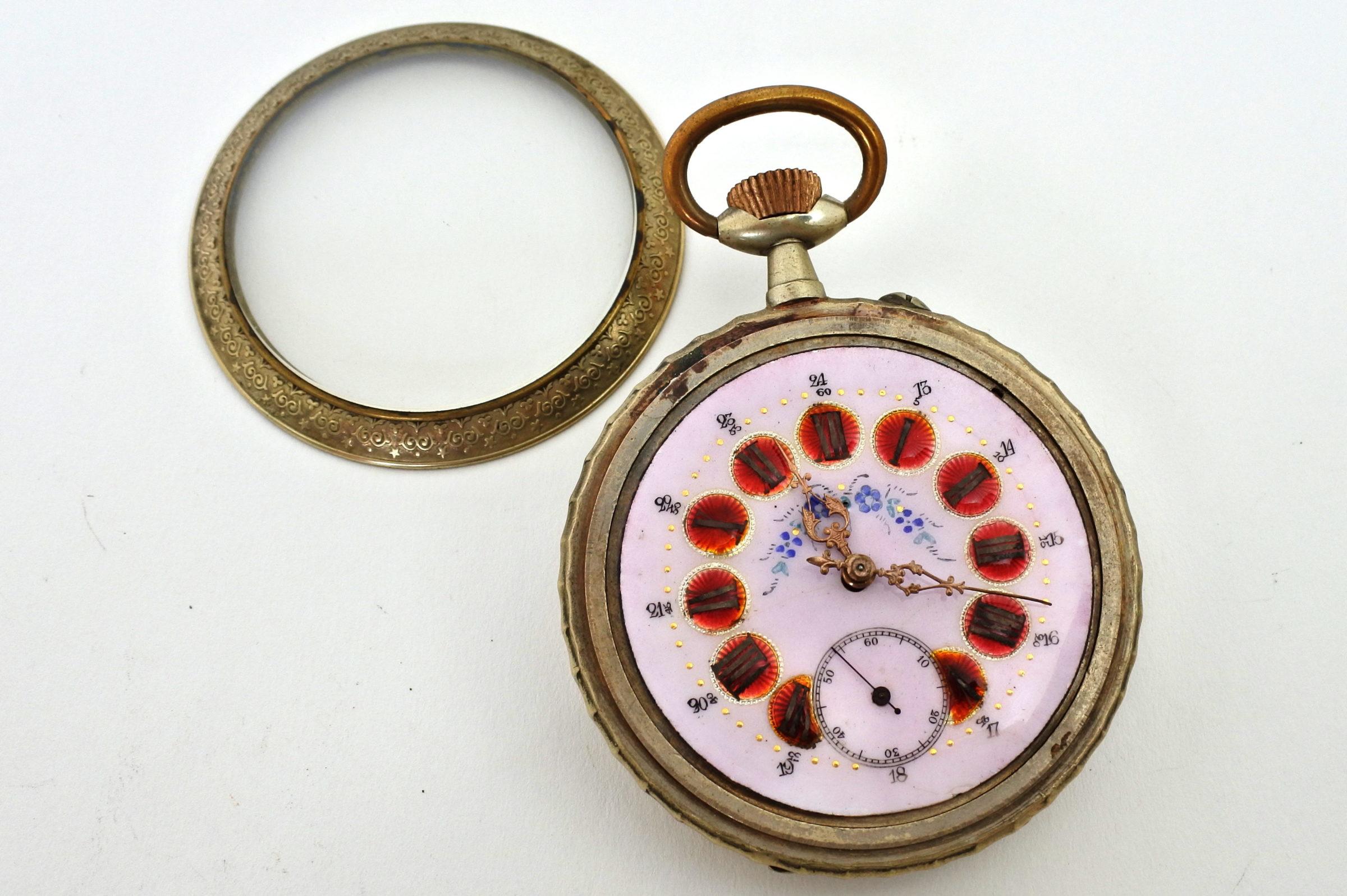 Bellissimo orologio da tasca in argento - 5